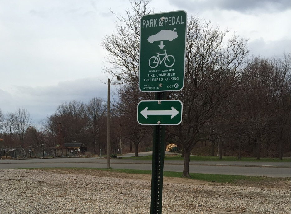 Park&Pedal Sign Early 2015