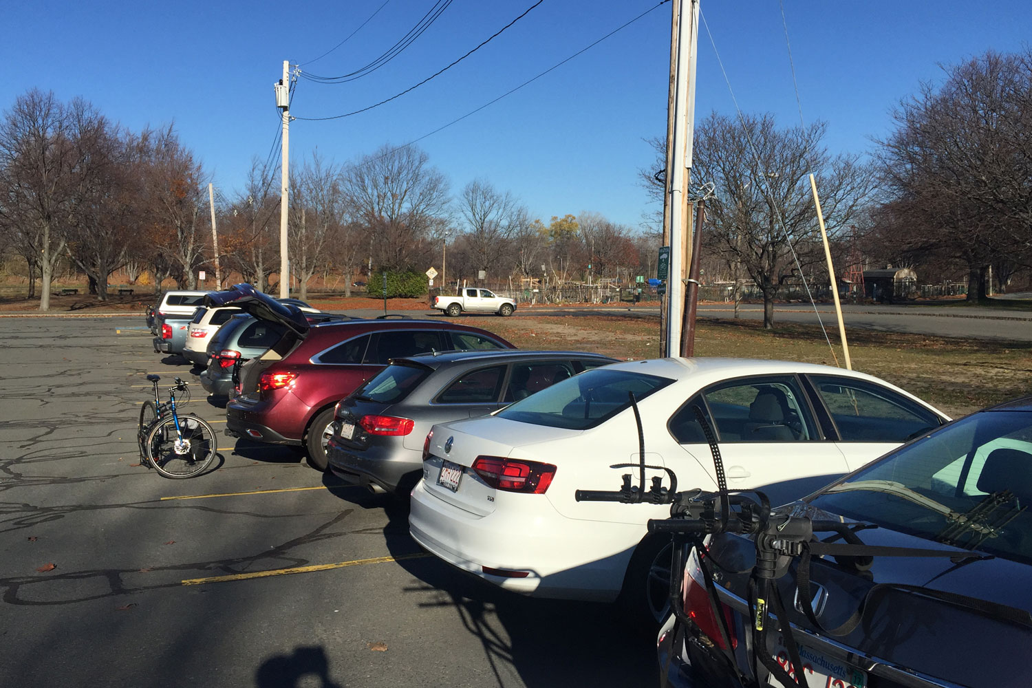 Today's Forecast: Cold and Dark – Yet Many Still Park&Pedal